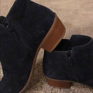 Diba Navy Blue Suede Booties